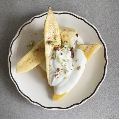 Bananes rôties au gingembre et yaourt