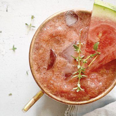 Moscow mule au melon d'eau