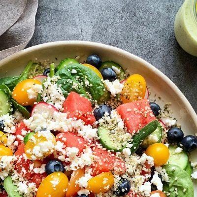 Salade de melon d'eau et féta
